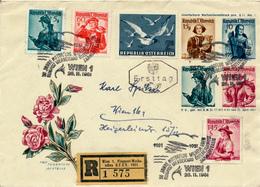 WIEN  1  - 1951 , R-Brief  Flugpost-Werbeschau -  Privatganzsachen-Umschlag Nach Wien - Entiers Postaux