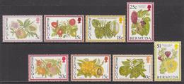 1998 Bermuda Flowering Fruit Trees Definitive REPRINTS Complete Set Of 8 MNH - Bermuda