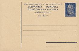 Yugoslavia Postal Stationery Ganzsache Entier 1950 Tito In Zivil 2 Din (Unused) - Postal Stationery
