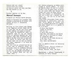 D 733. MARCEL JANSSEN Echtg. M. Aernouts - °VLIMMEREN 1932 / +OOSTMALLE 19789 - Images Religieuses