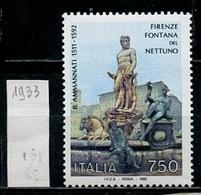 Italie - Italy - Italien 1992 Y&T N°1933 - Michel N°2201 *** - 750l Fontaine De Neptune - 1991-00:  Nuevos