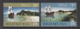 2007 Bermuda Jamestown Sailing Ships  Complete Set Of 2 MNH - Bermuda