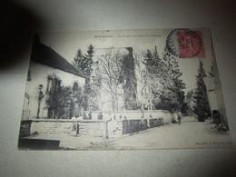 Cpa Carte Postale Ancienne Montagney Ecole Et Chateau - Francia