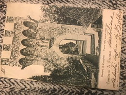 1900 Cartolina Formato Piccolo Viaggiata Castello Di Vincigliata Contorni Di Firenze - Firenze