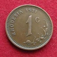 Rhodesia 1 Cent 1971 KM# 10  Rodesia Rhodesie - Rhodesia