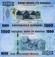 RWANDA 1000 Francs 2019 P New UNC - Rwanda