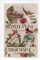 Bonne Annee: Porte Veine Pour 52 Semaines, Hirondelle, Elephant (19-568) - New Year