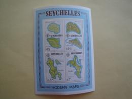 1982 Seychelles Yv BF 19  ** MNH Cartes  Maps Cote 7.00 € Michel B19 Scott 490 SG 532 - Seychelles (1976-...)
