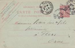 """Bordeaux - Cachet  Fabricanr  """" Leon CHANEE """" - Sur Entier Postal - Scan Recto-verso - Enteros Postales"""