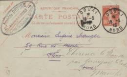 """Douai  -cachet """" Amédée DUPIRE """" - Sur Entier Postal - Scan Recto-verso - Enteros Postales"""