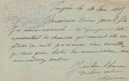 """Fougères - Cachet  Magasin   """" Z. GAILLARD  """" - Sur Entier Postal - Scan Recto-verso - Postales Tipos Y (antes De 1995)"""