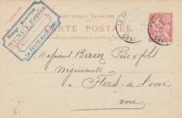 "La Ferté Macé  - Cachet Fabrique  ""RENUT Frères  "" - Sur Entier Postal - Scan Recto-verso - Enteros Postales"