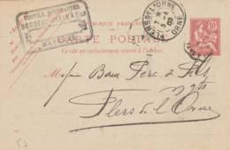"Mayenne  - Cachet  Magasin "" BORDEAU-YVAIN   "" - Sur Entier Postal - Scan Recto-verso - Enteros Postales"