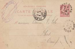 """Valencienne  - Cachet"""" LEVEQUE Et CARLIER """" - Sur Entier Postal - Scan Recto-verso - Postales Tipos Y (antes De 1995)"""