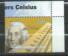 MACEDONIA 2019 - 250 Ann.the Death Of Anders Celsius.sciences.astronomy . **MNH - Macédoine