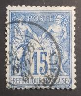 1876-1900, Sage, Pax And Mercur, 10c, France, Empire Française - 1876-1898 Sage (Type II)