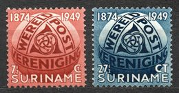 SURINAME (Colony), 1949 75 Years U.P.U. 2v MNH - Surinam ... - 1975