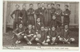 BELLE CARTE PHOTO  ANGERS   GADZ ARTS CLUB ANGEVIN.  Equipe Première De Rugby (1908. 1909)voir Scan Au Dos - Angers