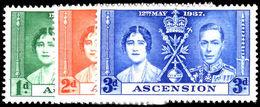 Ascension 1937 Coronation Set Unmounted Mint. - Ascension