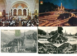 65 - Lourdes  : Lot De 50 Cartes (CP, CPA Et CPSM) - Postales