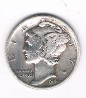 DIMES 1941   USA /3040/ - 1916-1945: Mercury
