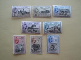1955 Sierra Leone Yv 181/8  ** MNH  Definitives  Cote 8.75 € Michel 176/83 Scott 195/02  SG  210/7 - Sierra Leone (1961-...)