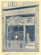 CALAIS Magasin De Coiffure Architecte Poye 1928 - Vieux Papiers