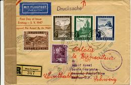 WIEN-PARLAMENT -  5.7.47  FD , Flugzeuge über Landschaften ... - Luftpost R-Brief Nach Mexico D.F.  - Zensur - Luftpost