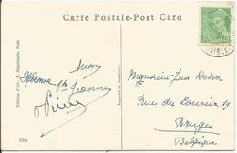 1938-41 - N° 414 Oblitéré (o) Sur Carte Humoristique Anglaise - 1938-42 Mercure