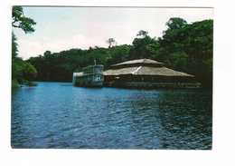 Brésil Brasil Cabana Lago Do Guedes Troppical Lodge At Guedes Lake Lac Bateau Boat + Timbre - Manaus