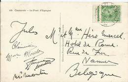 1938-41 - N° 414 (bord De Feuille) Oblitéré (o) Sur Carte CAUTERETS - 1938-42 Mercure