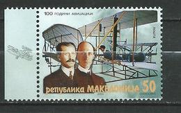 Macedonia / Macedoine 2003 The 100th Anniversary Of The First Flight .Aviation.sciences. MNH - Macédoine