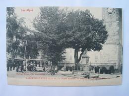 BARCELONNETTE - Place Manuel - Départ De L' Auto Messagerie. - Barcelonnette