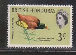 BRITISH HONDURAS Scott # 169 Mint NO GUM - QEII & Bird - British Honduras (...-1970)