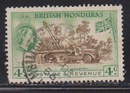 BRITISH HONDURAS Scott # 147 Used - QEII & Pine Industry - British Honduras (...-1970)