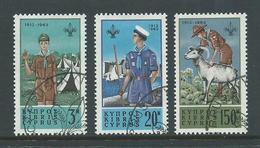 Cyprus 1963 Boy Scout Set 3 VFU Special Cds - Cyprus (Republic)