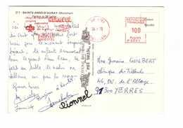 EMA 56 Etel 1979 Morbihan Camping Village De Vacances Keravel - Marcofilie (Brieven)