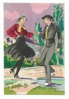 CPSM La Danse à Travers Les âges : Vendée La Maraichine Vendéenne - Ed Arc En Ciel Non Voyagee Pochoir - Danses