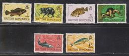 BRITISH HONDURAS Scott # 214-18, 220 MNH - QEII & Fish - British Honduras (...-1970)