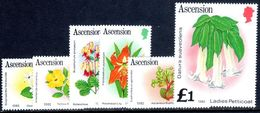 Ascension 1982 Flowers Date Imprint Set Unmounted Mint. - Ascension