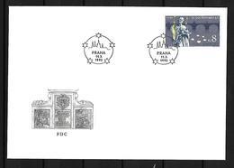 1993 Joint / Gemeinschaftsausgabe Germany, Czech Republic, Slovakia, FDC CZECH REPUBLIC: Nepomuk - Gezamelijke Uitgaven