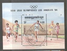 Kampuchea 1984 Olympic Games Mi.B137 Used TA.136 - Kampuchea