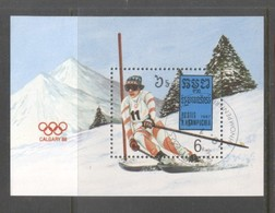 Kampuchea 1987 Olympic Winter Games Mi.B150 Used TA.142 - Kampuchea