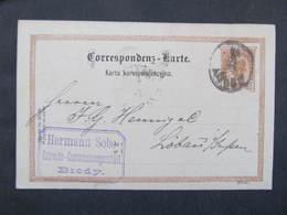 GANZSACHE Brody - Löbau Hermann Sobe Korrespondenzkarte 1892  //  D*37365 - 1850-1918 Imperium