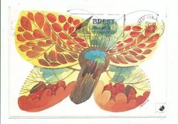 CPM Journée Des Lépreux Autocollant Papillon D' Automne - Fondation Raoul Follereau - Beau Timbre Belge  Au Recto - Gesundheit