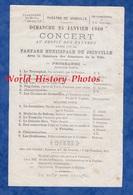 Document Ancien De 1880 - Théatre De JOINVILLE ( Haute Marne ) - Concert De La Fanfare Municipale - TOP RARE - Documents Historiques
