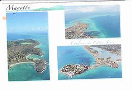 MAYOTTE, Vue Aérienne Des Plages De Moya Et Du Cratère Dziani, Lagune Des Badamiers, Aéroport, Couleurs De PETITE -TERRE - Mayotte