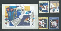 Cyprus 1989 Nicosia Games Set 4 & Miniature Sheet MLH - Unused Stamps