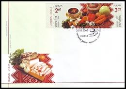 UKRAINE 2005. EUROPA. GASTRONOMY. UKRAINIAN BORSHCH. FDC Mi-Nr. 719-20 - 2005