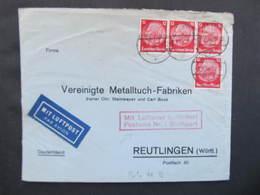 BRIEF Stettin - Reutlingen Luftpost Stuttgart 1934 //  D*37375 - Deutschland